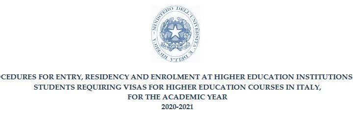 Study in Italy 2020-21
